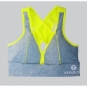 Grey/Neon Deluxe 'Cross-Train' Sports Bra