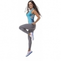 Grey 'Yogi' Supplex Fitness Leggings