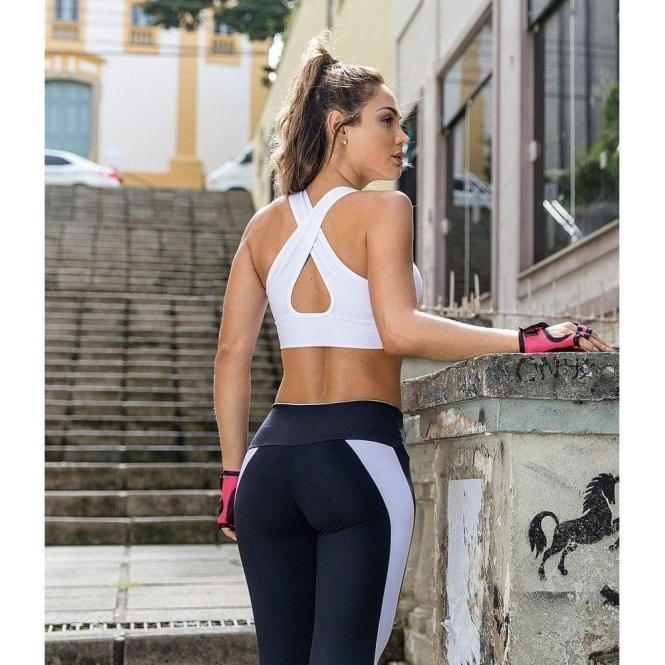 'Guilty Pleasure' White Sports Bra