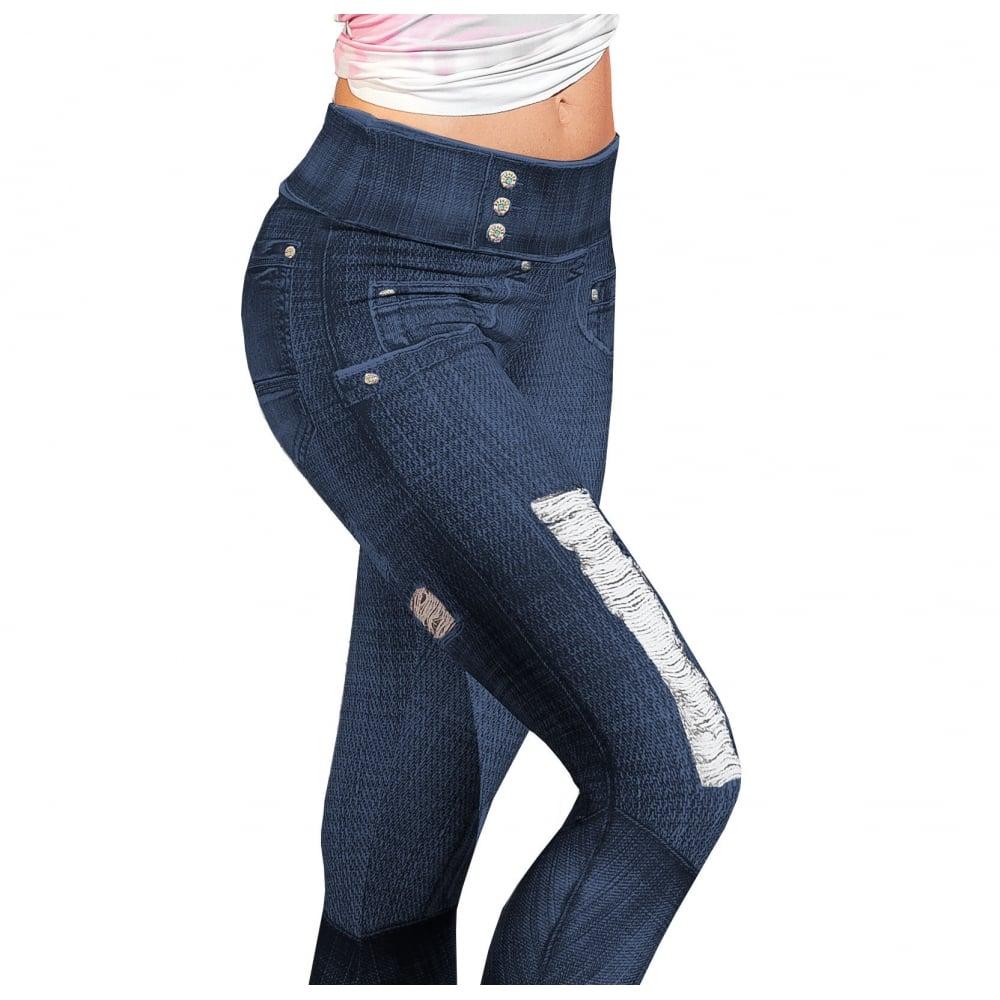 0faefa638293c 'Gym-ericano' Jean Style Butt Lifting Gym Leggings