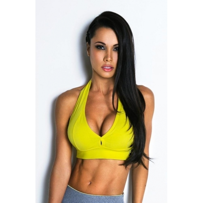 'Hello Boys' Racerback Padded Sports Bra 8 Colours