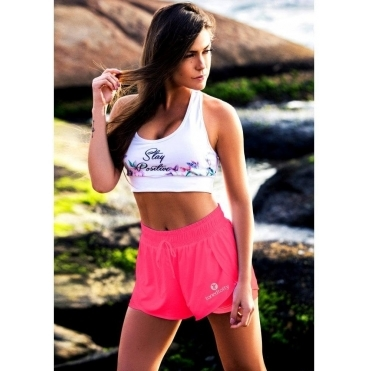 'Hot Shots' Fitness Shorts Neon Coral