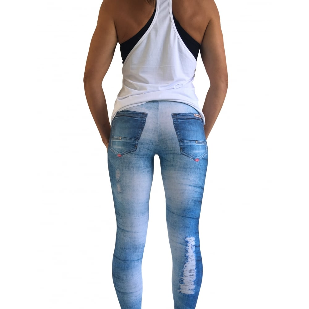 7599be3317918 Sublimation Fitness Leggings Gym Jeans Style