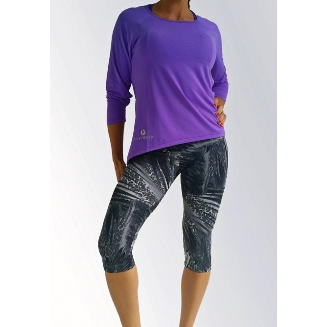 'Jog On' Compression Fitness Capri Leggings