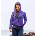 'Knockout' Vibrant Purple Sports Fitness Jacket