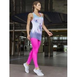 'La-Di-Da' Supplex Pink Fitness Leggings