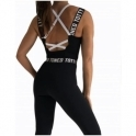 'La Divina'' Black Sports Fitness Jumpsuit / Catsuit