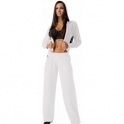 Ladies 'It Girl' White Sports Fitness Jacket