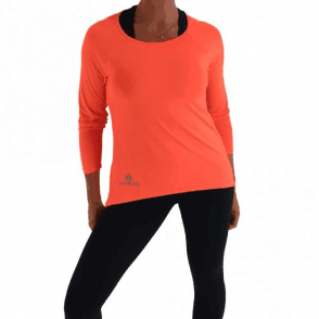 LAST ONE! Fizzy Peach ''Lazy Days 2' Sports Fitness Top