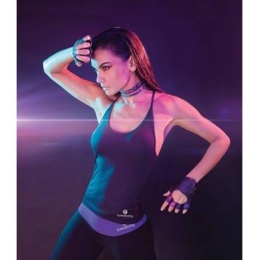 LAST ONE! Longer Length 'Lavish' Fitness Top Black
