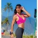 LAST ONE! Neon Pink Cosmopolitan Supplex Sports Bra