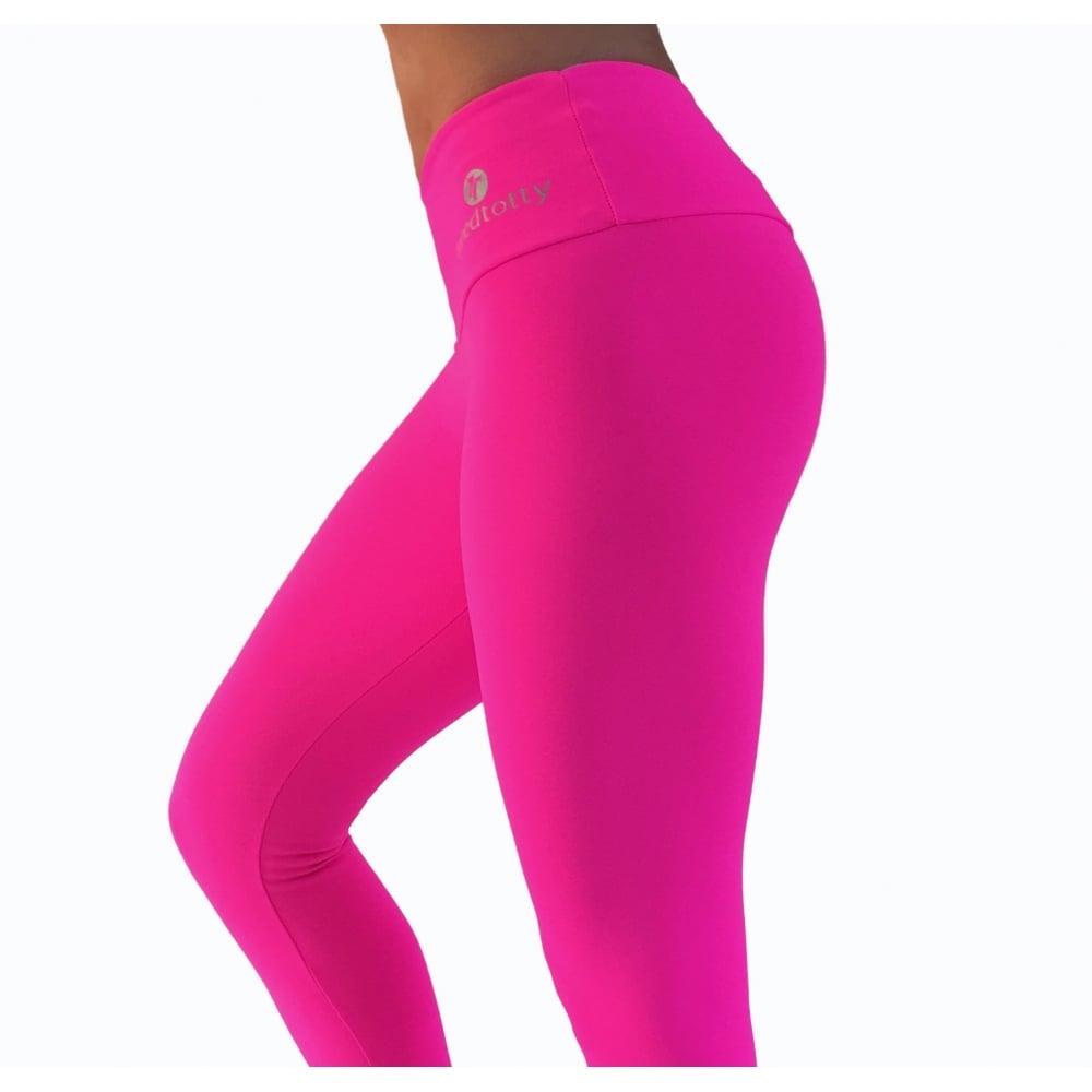 9bb062f1be Neon Pink Supplex Gym Leggings. Womens Pink Fitness leggings