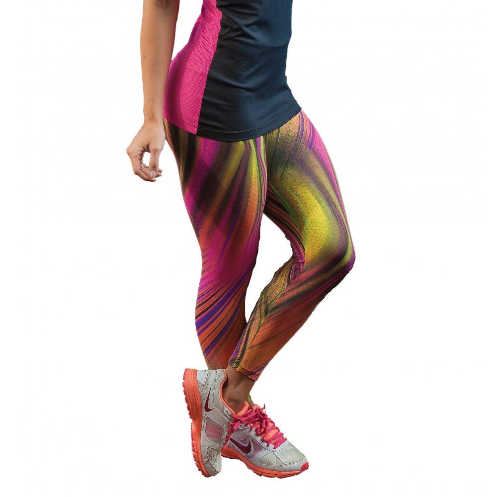 Fitness Leggings Material: Funky Print Gym Leggings, Sport Performance Light Supplex
