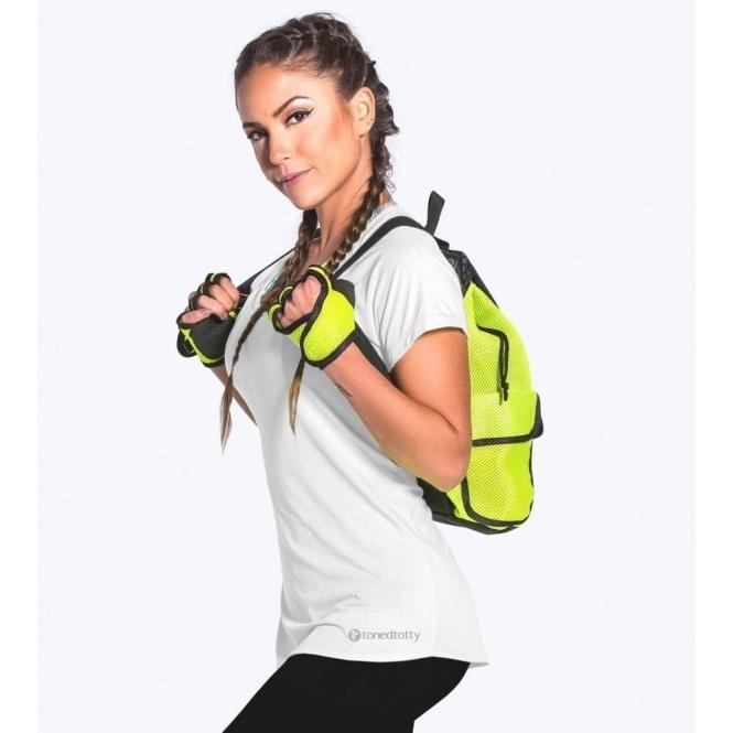 'Lazy Days' Short Sleeve White Sports Fitness Top