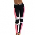 Limited Edition 'Selfish Ambition' Black/White/Pink Gym Leggings
