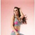 Little Minx Grey/Pink Sports Fitness Bra Top