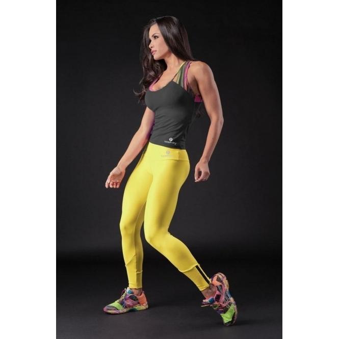 Fitness Leggings Material: Womens Luxury Fitness Leggings UK. Yellow Fitness Supplex