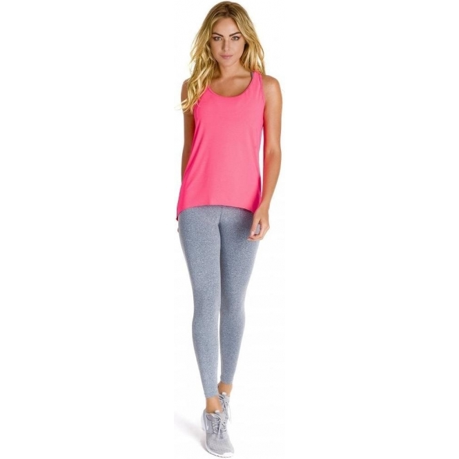 'Meet Me At Sunset' Neon Coral Fitness Vest Top