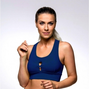 Navy 'Fruit Salad' Supplex Sports Bra Top