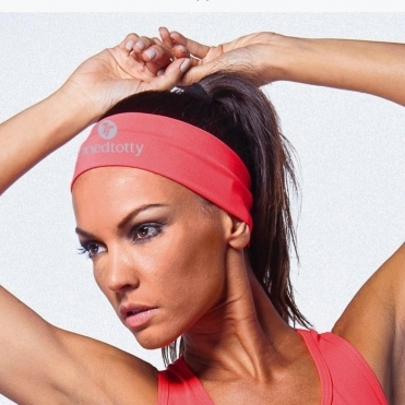 Neon Coral Fitness Headband