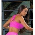 Neon Pink Cosmopolitan Supplex Sports Bra