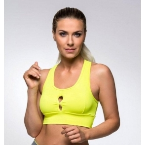 Neon Yellow 'Fruit Salad' Supplex Sports Bra Top