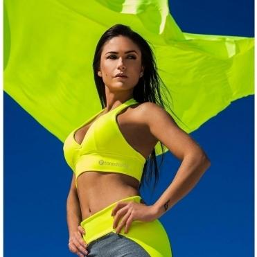 Neon Yellow Supplex Padded Sports Bra