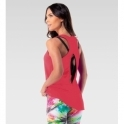 NEW COLOUR Deep Coral 'Jetsetter' Fitness Vest Top