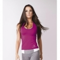 NEW Longer Length 'Fit-Chick' Fitness Top Mulberry