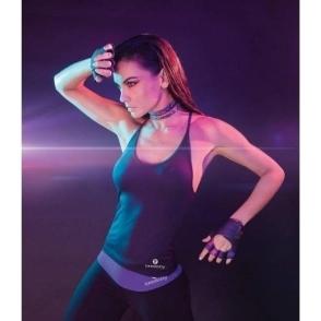 NEW Longer Length 'Lavish' Fitness Top Black