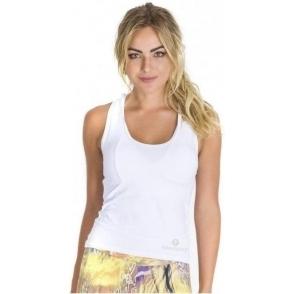 NEW White Longer Length 'Fit-Chick' Fitness Top