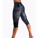 'On A Mission' Waxed Finish Capri Gym Leggings