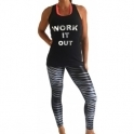 'On A Mission' Waxed Finish Fitness Leggings