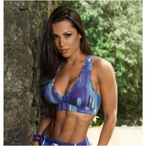 Padded 'Graffiti' Toned Totty Sports Bra