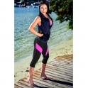 'Pink A Boo' Supplex Capri Fitness Leggings