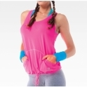 Pink 'Woo Woo' Pocket Fitness Vest Top