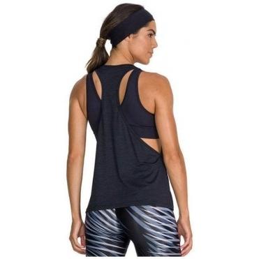 'Pop Star' Black Drop Armhole Fitness Vest