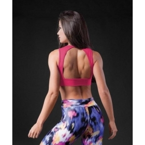 Purple Open Back 'Dolly' Sports Bra