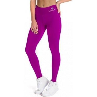 Purple 'Swizzel' Supplex Fitness Leggings