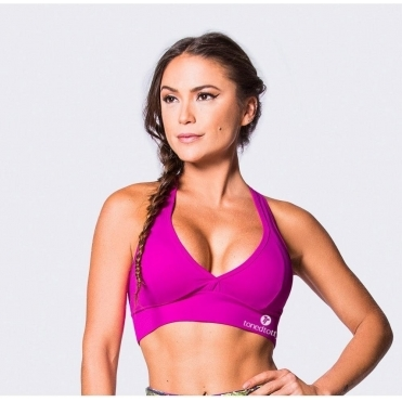 Purple 'Swizzel' Supplex Sports Bra
