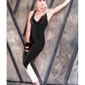 'Red Hot Rio' Black and White Fitness Jumpsuit