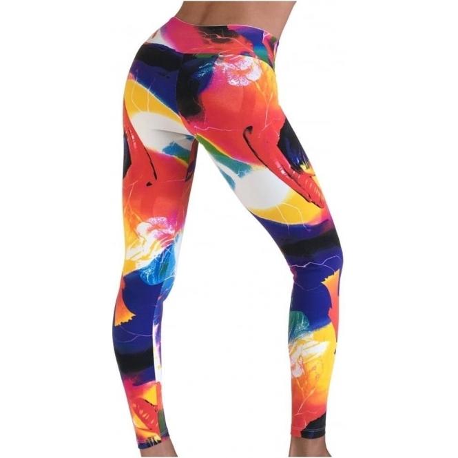 'Retreat' Print Supplex Gym / Yoga Pants