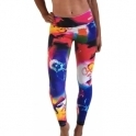 'Retreat' Print Supplex Gym / Yoga Pants