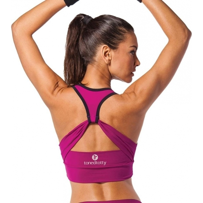 'Rockateur' Cross Back Sports Bra Top