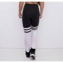 """""""Showgirls"""" Black and White Power Sock Leggings"""