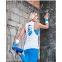 Slash Back Drop Armhole Fitness Vest Top White