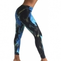 'Snazzy' Waxed Fitness Leggings