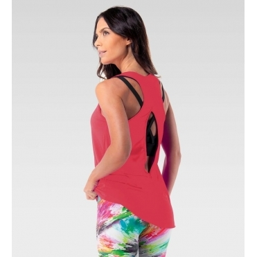 SOLD OUT! Deep Coral 'Jetsetter' Fitness Vest Top