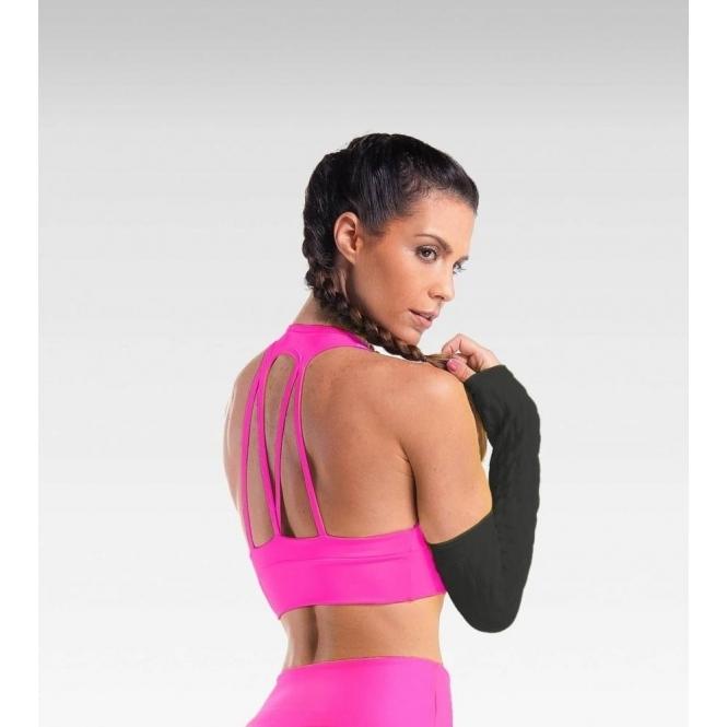 SOLD OUT! 'La-Di-Da' Supplex Pink Sports Bra Top