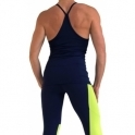 SOLD OUT! Longer Length 'Lavish' Fitness Top Navy